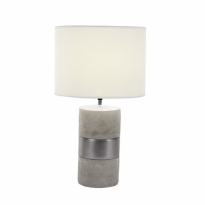 Tempting Ceramic Concrete Table Lamp - 82968 by Benzara