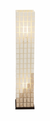 The Beautiful Metal Capiz Tower Floor Lamp - 52220 by Benzara