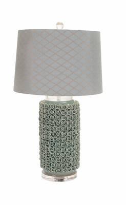 The Charming Ceramic Acrylic Table Lamp - 62111 by Benzara