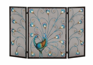 The Colorful Metal Fireplace Screen - 55275 by Benzara