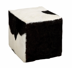 The Comfortable Wood Square Goat Stool - 37762 by Benzara