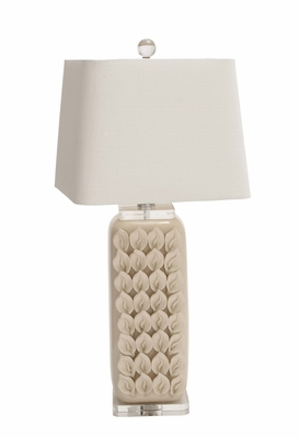 The Cool Ceramic Acrylic Table Lamp - 62107 by Benzara