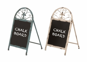 The Cool Metal Chalk Board 2 Assorted - 34930 by Benzara