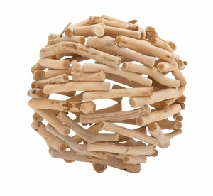 The Different Driftwood Deco Ball - 76354 by Benzara