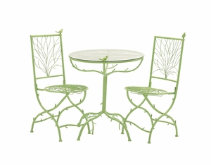The Different Metal Bistro Set Of 3 - 27145 by Benzara