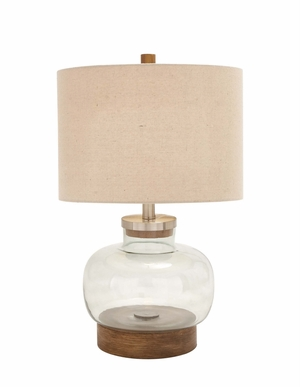 The Distinctive Glass Metal Table Lamp - 92010 by Benzara