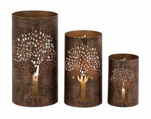 The Exceptional Set Of 3 Metal Tree Hurricane - 22096 by Benzara