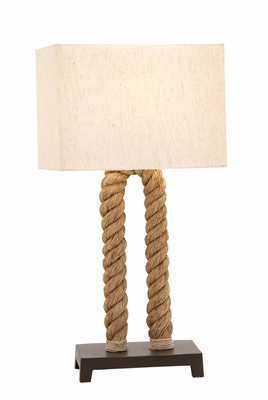The Extraordinary Metal Rope Pier Table Lamp - 67709 by Benzara