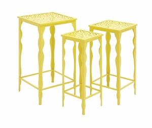 The Funky Set of 3 Metal Plant Stand - 65316 by Benzara