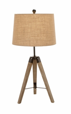 The Independent Wood Metal Tripod Table Lamp - 97335 by Benzara