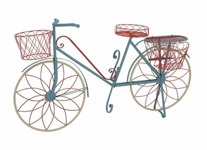 The Ingenious Metal Bicycle Plant Stand - 28946 by Benzara
