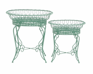 The Intricate Set Of 2 Metal Plant Stand - 28948 by Benzara
