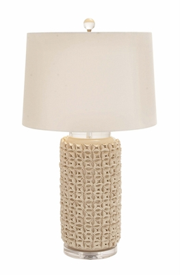 The Lovely Ceramic Acrylic Table Lamp - 62112 by Benzara