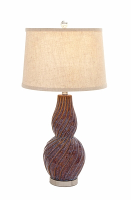 The Lovely Ceramic Metal Table Lamp - 97372 by Benzara