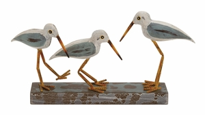 The Mesmerizing Wood Metal 3 Birds on Stand - 92658 by Benzara