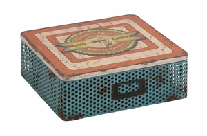 The Nostalgic Metal Wood Box - 76193 by Benzara