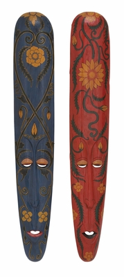 The Old Wood Mask 2 Assorted - 40351 by Benzara