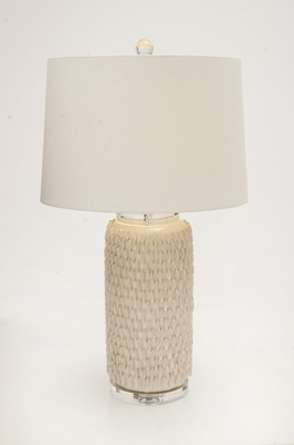 The Peasant Ceramic Crystal Table Lamp - 62102 by Benzara