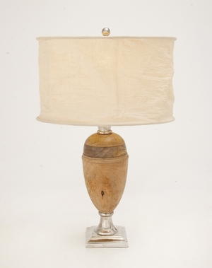 The Pretty Aluminum Wood Table Lamp - 38365 by Benzara
