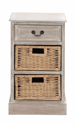 The Simple Wood 2 Basket Chest - 96282 by Benzara