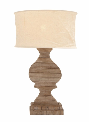 The Soothing Wood Table Lamp by  Import - 38363 by Benzara