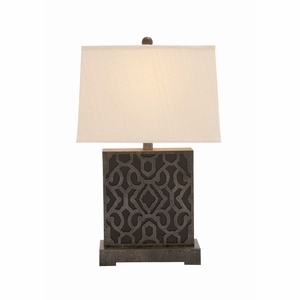 The Square Wood Table Lamp - 60110 by Benzara
