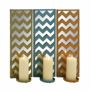 The Stunning Metal Mirror Candle Sconce 3 Assorted - 34942 by Benzara
