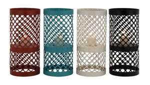 The Timeless Metal Candle Holder 4 Assorted - 65340 by Benzara