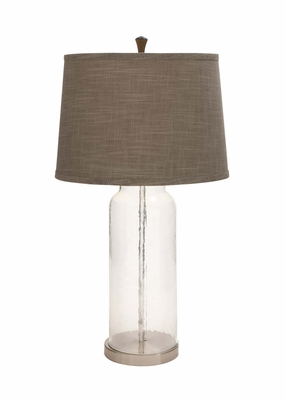The Unique Glass Metal Table Lamp - 97366 by Benzara
