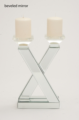 The Very Cool Wood Mirror Candle Holder - 87240 by Benzara