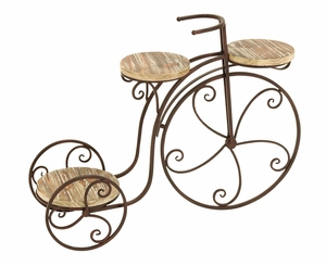Garden Three Shelf Tricycle Planter Stand For Your Plants - 66554 by Benzara
