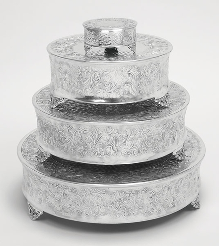 wedding cake stands to buy buy tierra wedding cake stand plates set 4 aluminum 8767