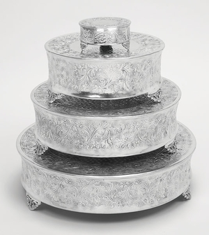 Aluminum Cake Stand Set Of 4 For Stylish Host - 15947 by Benzara