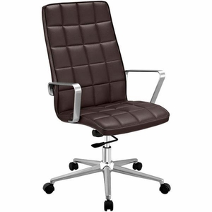 Tile Highback Office Chair, Brown