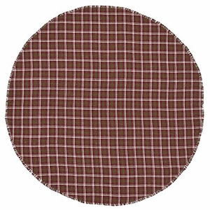 Timeless Jackson Burlap Plaid Table Cloth Round by VHC Brands