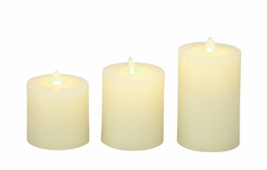 Timeless Set Of 3 Flameless Candle With Remote - 54882 by Benzara