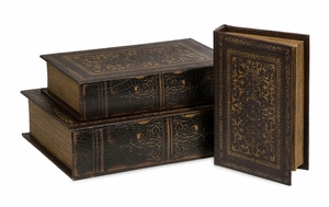 Timeless Set of 3 Old World Book Box Collection by IMAX