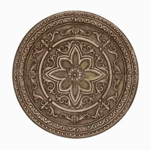 Metal wall decor with Floral Engravings - 50975 by Benzara