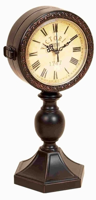 LONG LASTING METAL CLOCK RECTANGULAR - 72732 by Benzara