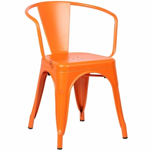 Trattoria Arm Chair in Orange by EdgeMod