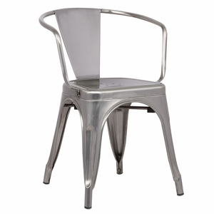 Trattoria Arm Chair in Polished Gunmetal by EdgeMod
