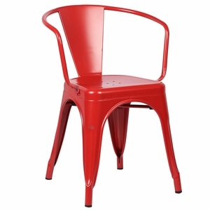 Trattoria Arm Chair in Red by EdgeMod