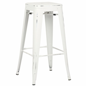 Trattoria Bar Stool in Distressed White by EdgeMod