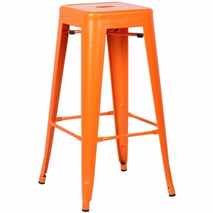 Trattoria Bar Stool in Orange by EdgeMod