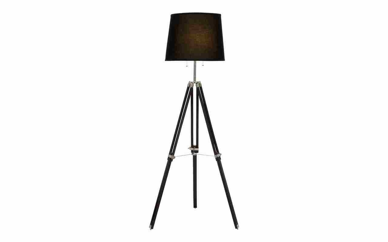 Benzara 95780 tripod floor lamp with adjustable height for Floor lamp for quilting