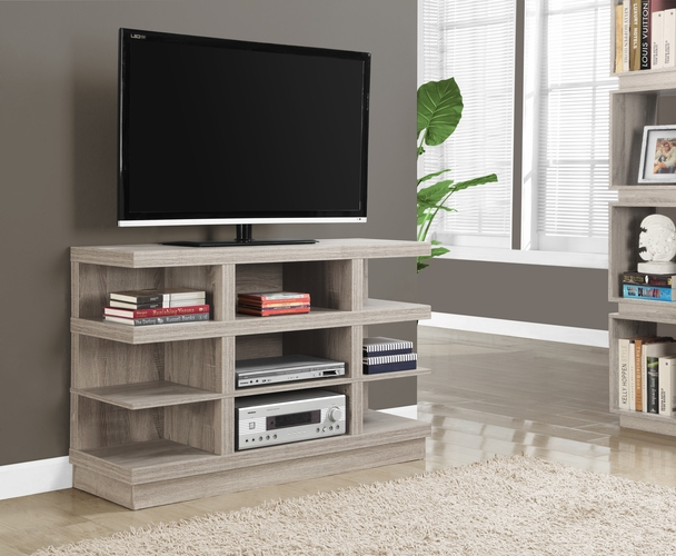 Buy tv stand 48 l dark taupe at for Wild orchid furniture