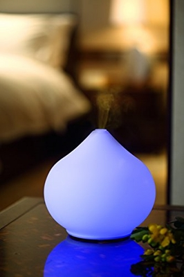 Ultrasonic Aroma Diffuser/Humidifier with Glass Dome