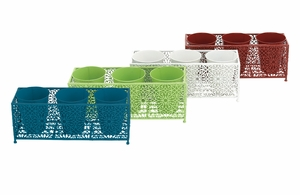 Unique and Adorable Set of 4 Planter Stand - 96996 by Benzara