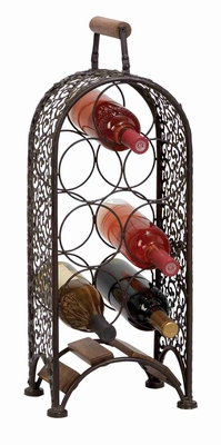 METAL WINE RACK MAKE YOUR BAR AREA MORE INVITING - 69833 by Benzara