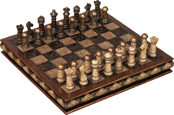 Woodland Import 81756 Unique Marble Chess Set With Game